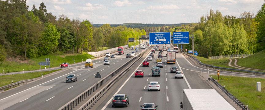 Umzug nach München - Autobahn